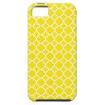Diseño amarillo del enrejado iPhone 5 Case-Mate carcasas