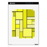 Diseño amarillo del entarimado skins para eliPad 2