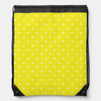 Diseño amarillo del lunar mochila