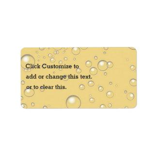 Diseño amarillo del modelo de las burbujas etiquetas de dirección