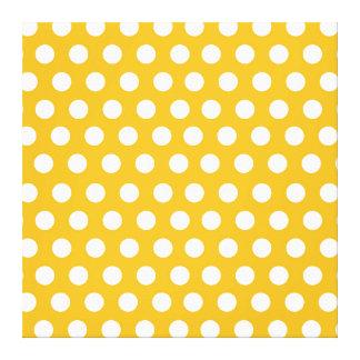 Diseño amarillo del modelo de lunares del color de impresiones en lona
