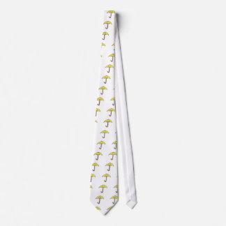 Diseño amarillo del paraguas corbatas personalizadas
