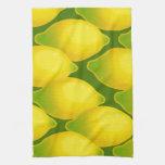 Diseño amarillo jugoso dulce del papel pintado del toalla de cocina