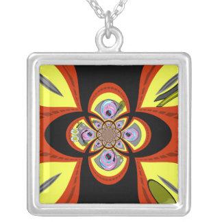 Diseño amarillo-naranja retro de la placa colgante cuadrado