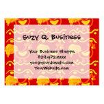 Diseño amarillo-naranja rojo colorido del pollo de plantilla de tarjeta de negocio