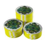 Diseño amarillo precioso fichas de póquer