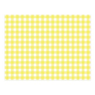 Diseño amarillo y blanco de la guinga postal