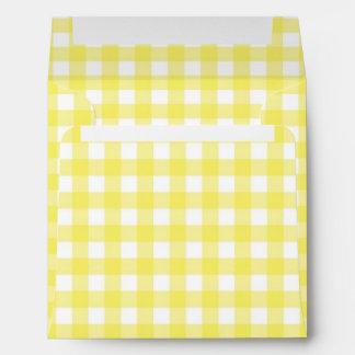 Diseño amarillo y blanco de la guinga sobre