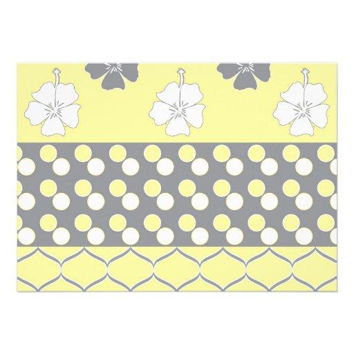 Diseño amarillo y gris invitacion personalizada