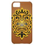 Diseño, amarillo y negro aztecas de la máscara