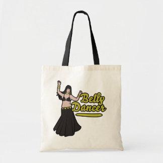 Diseño amarillo y negro de Tinah de la bailarina d Bolsas De Mano