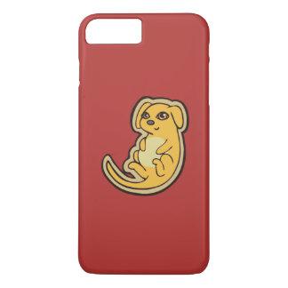 Diseño amarillo y rojo dulce del dibujo del perro funda iPhone 7 plus