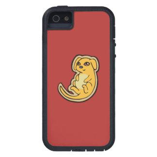 Diseño amarillo y rojo dulce del dibujo del perro funda iPhone SE/5/5s