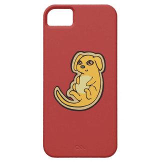 Diseño amarillo y rojo dulce del dibujo del perro funda para iPhone 5 barely there