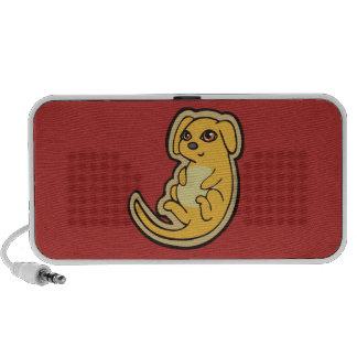 Diseño amarillo y rojo dulce del dibujo del perro laptop altavoz