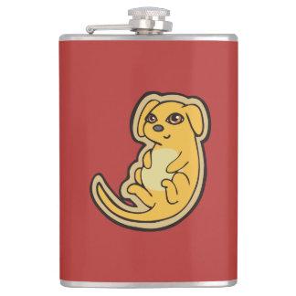 Diseño amarillo y rojo dulce del dibujo del perro petaca