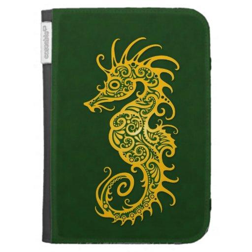 Diseño amarillo y verde complejo del Seahorse