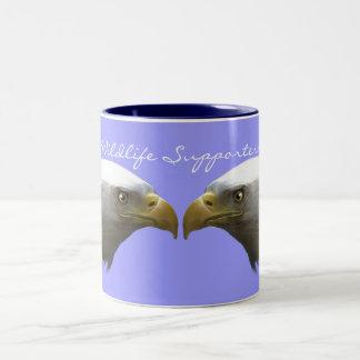 Diseño americano de Eagle calvo para los Taza De Dos Tonos