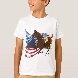 diseño americano de la carrera de caballos del playera