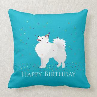 Diseño americano del feliz cumpleaños del perro cojin