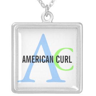 Diseño americano del monograma de la raza del rizo colgante cuadrado