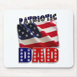 Diseño americano del papá patriótico alfombrillas de raton