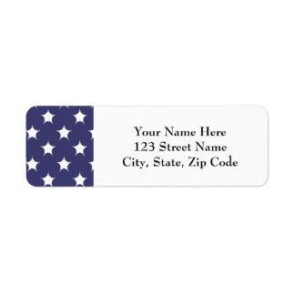 Diseño americano del patriota de la bandera del etiqueta de remitente