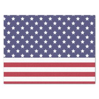 Diseño americano del patriota de la bandera del papel de seda mediano