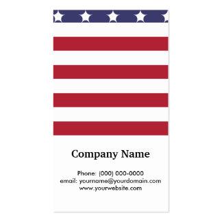 Diseño americano del patriota de la bandera del tarjetas de visita