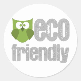 ¡Diseño amistoso de Eco Pegatinas Redondas