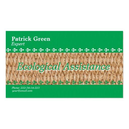 Diseño amistoso ecológico tarjetas de visita