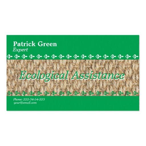 Diseño amistoso ecológico tarjetas de negocios