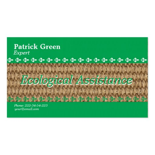 Diseño amistoso ecológico tarjeta de negocio