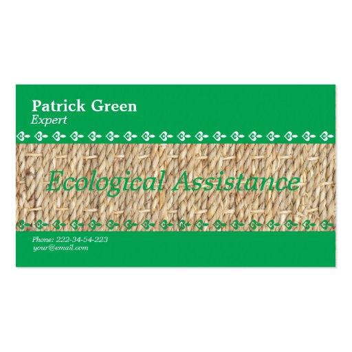 Diseño amistoso ecológico plantilla de tarjeta personal