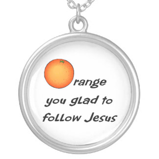 Diseño anaranjado cristiano de la fruta colgantes personalizados