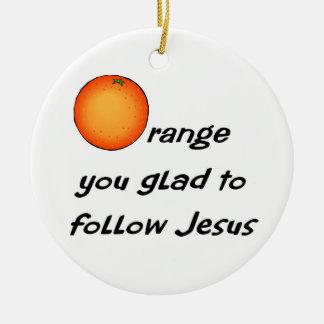 Diseño anaranjado cristiano de la fruta ornamentos de reyes magos