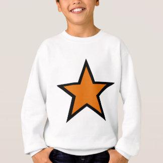 ¡Diseño anaranjado de la estrella! Sudadera
