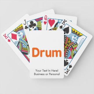 diseño anaranjado de la música del texto del baraja de cartas