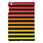 Diseño anaranjado de la raya iPad mini cobertura