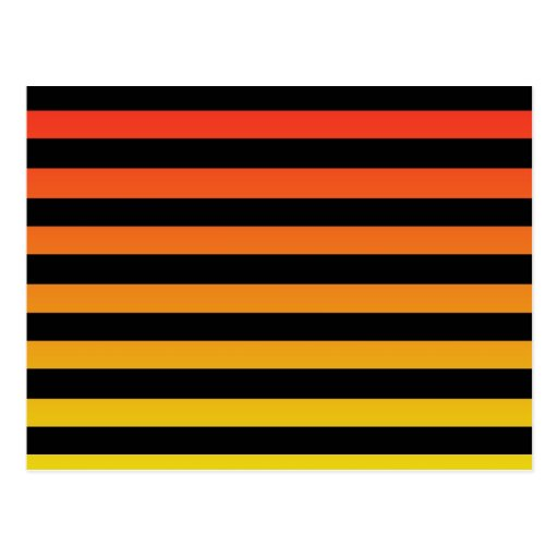 Diseño anaranjado de la raya postales