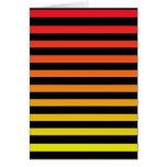 Diseño anaranjado de la raya tarjetas