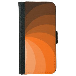 Diseño anaranjado de los segmentos funda cartera para iPhone 6