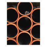 Diseño anaranjado de los tubos tarjetas publicitarias