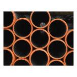 Diseño anaranjado de los tubos anuncio personalizado