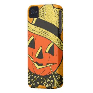 Diseño anaranjado del espantapájaros iPhone 4 Case-Mate cárcasa