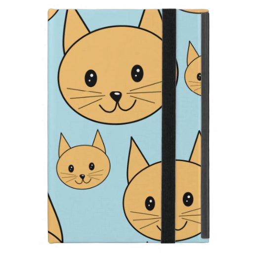 Diseño anaranjado del gato del jengibre iPad mini fundas