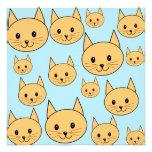 Diseño anaranjado del gato del jengibre invitación personalizada