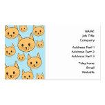 Diseño anaranjado del gato del jengibre tarjetas de visita