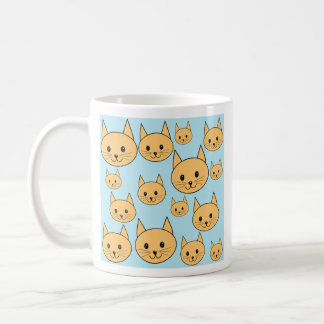 Diseño anaranjado del gato del jengibre tazas