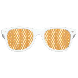 Diseño anaranjado del lunar gafas de fiesta